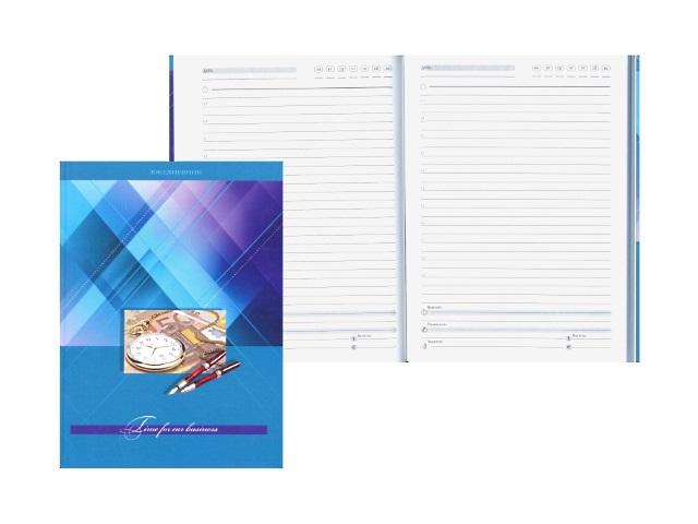 Ежедневник недатированный А5 твердая обложка 80 листов Офис Золотые часы, Prof Press 80-3960