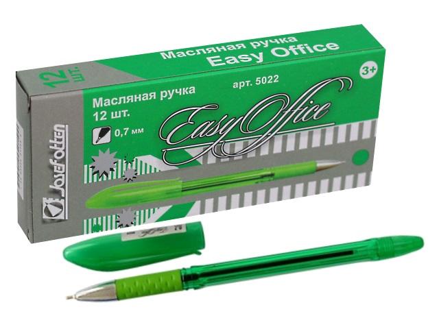Ручка масляная J.Otten Easy Office зеленая 0.7мм 5022