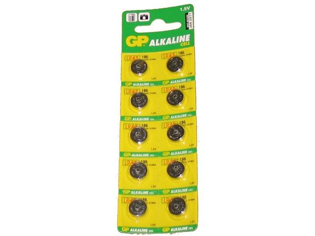Батарейка часовая GP G12 Alkaline 186 щелочная