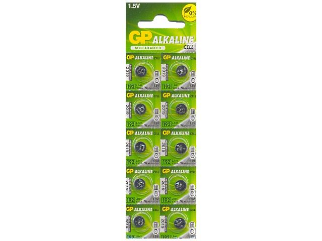 Батарейка часовая G3 GP 1.5V Alkaline 192 щелочная