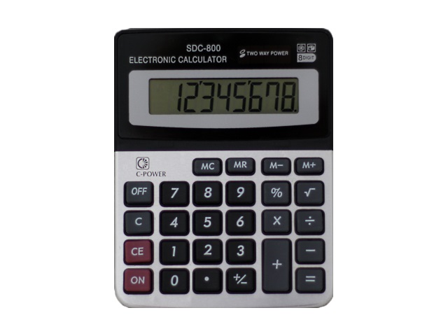 Калькулятор  8-разрядный Basir серый 13.5*10.5 см SDC-800