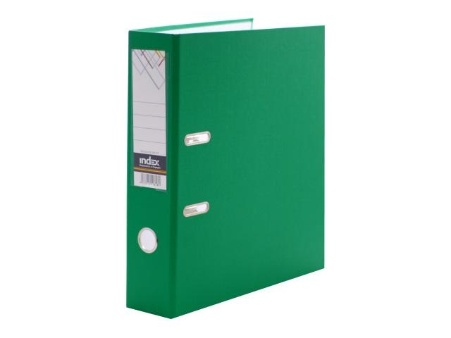Регистратор  А4/80 Index зеленый с металлической окантовкой 8/24 PVC NEW ЗЕЛ