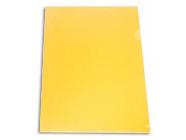 Уголок А4 180мкм Бюрократ желтый матовый E310N/1yel