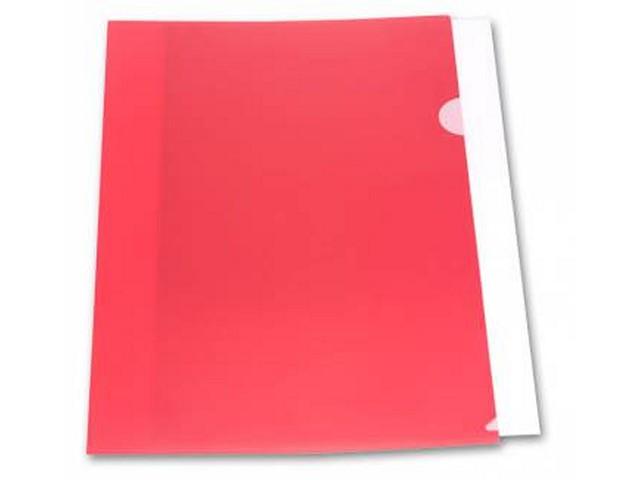 Уголок А4 180мкм Бюрократ красный матовый E310N/1red