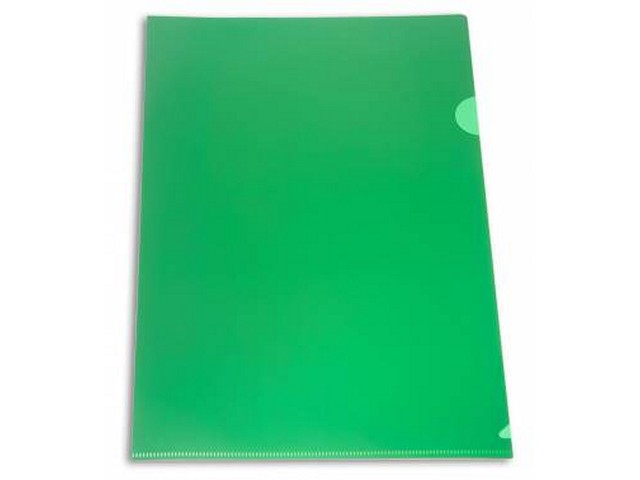 Уголок А4 180мкм зеленый матовый Бюрократ E310N/1gr