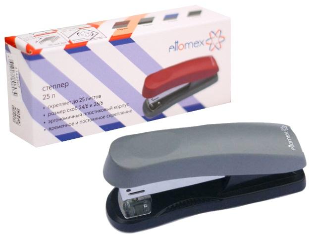 Степлер №24/6-26/6 25л пластик черно-серый Attomex 4142307