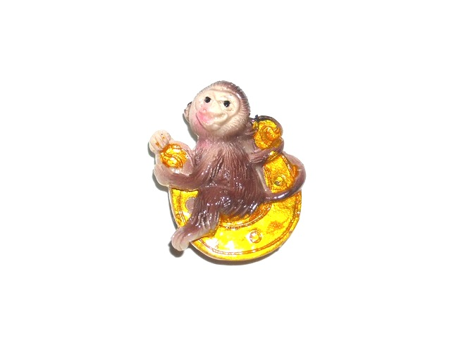 Магнит керамика Обезьяна с подковой №1