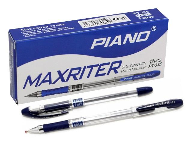 Ручка масляная Piano Maxriter РТ-335 синяя 0.5мм