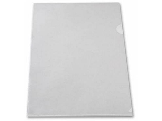 Уголок А4 180мкм белый матовый Бюрократ E310/1clear