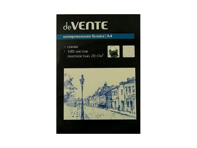 Копировальная бумага А4 100л синяя DeVente 2041302