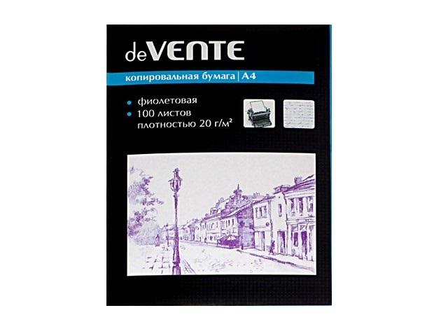 Копировальная бумага А4 100л фиолетовая DeVente 2041401