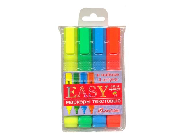 Маркеры текстовые 4 цвета J.Otten Easy скошенные 1-4мм 2191-4