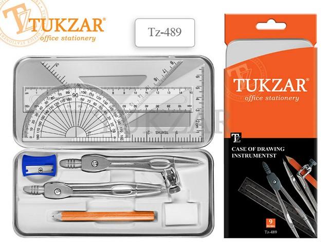 Готовальня  9 предметов Tukzar TZ 489