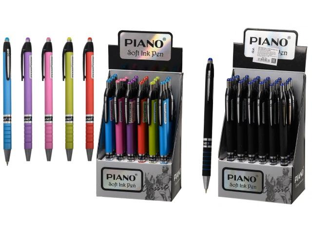 Ручка шариковая автомат Piano синяя 0.7мм PB-165