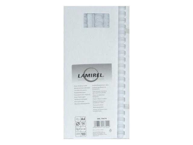 Пружины для брошюровки 14 мм белые 100 шт. Lamirel LA-78674