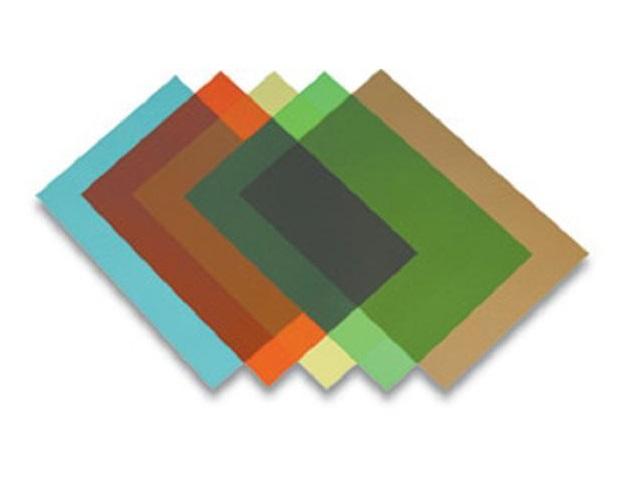Обложки для брошюровки пластиковые, прозрачные, А4, 200 мкм, синие, 100 шт., Transparent, Lamirel