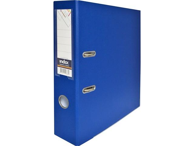 Регистратор  А4/80 Index синий с металлической окантовкой 8/50 PP NEW BU