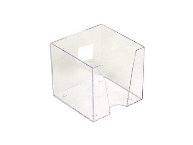 Бокс для бумаги 9*9*9 см WM пластик прозрачный 045000400