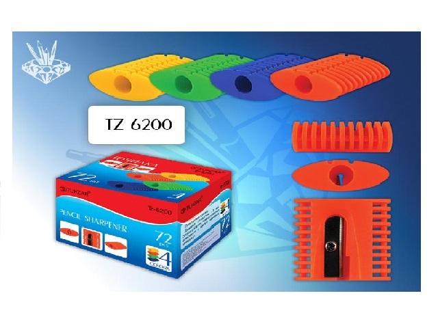 Точилка пластик цветная TZ 6200