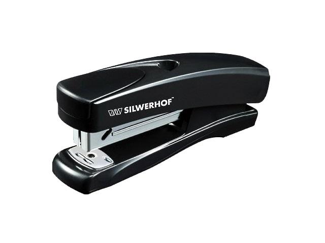 Степлер №24/6-26/6 20л пластик черный Schwarz Silwerhof 401064-01