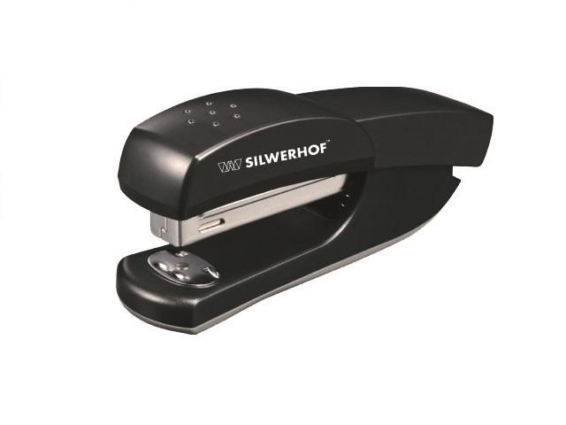 Степлер №24/6-26/6 20л пластик черный Debut Silwerhof 401066-01