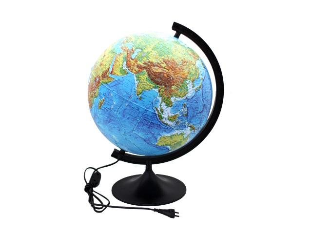 Глобус физический D 320 мм с подсветкой К013200017