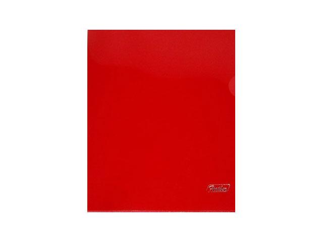 Уголок А5 180мкм прозрачный красный глянцевый Hatber AG5_00103