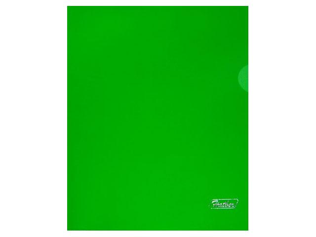 Уголок А5 180мкм прозрачный зеленый глянцевый Hatber AG5_00104