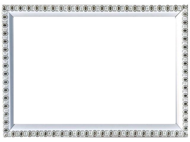 Фоторамка 10*15см белая с узором 118-1105
