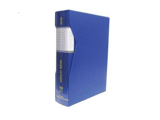 Папка с файлами 100ф А4 в коробе синяя Proff Next DB100AB-04