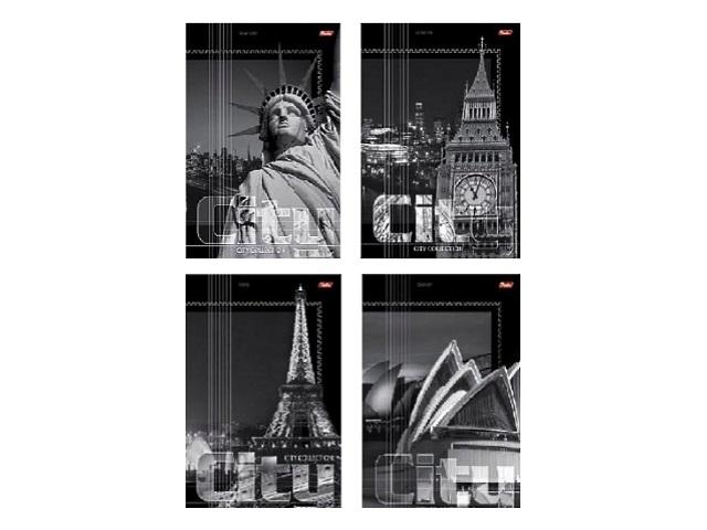 Книга канцелярская  80л спираль сбоку м/обложка City Collection 80Т4вмB1сп