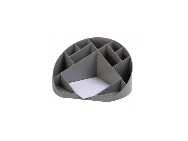 Подставка для ручек 12 отделений Simple серая круглая DeVente 4102502