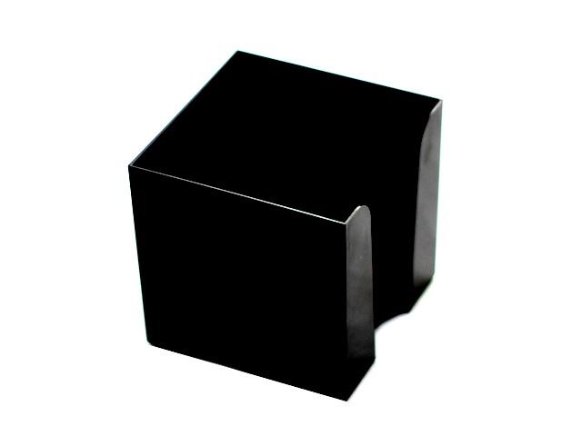 Бокс для бумаги 9*9*5 см WM пластик черный 045000501