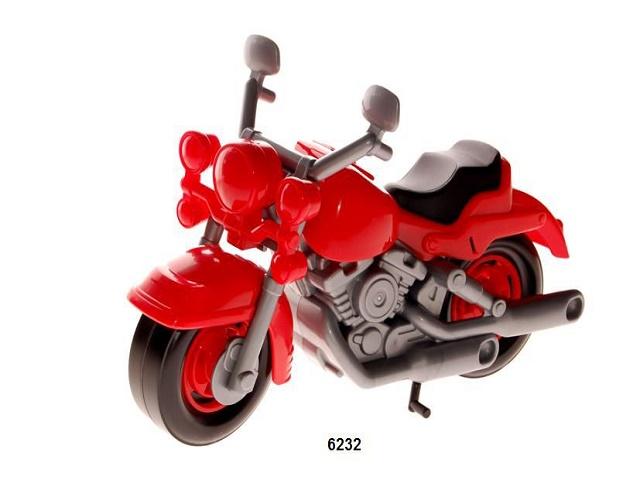 Мотоцикл инерционный пластиковый Кросс, в пакете, Полесье  6232