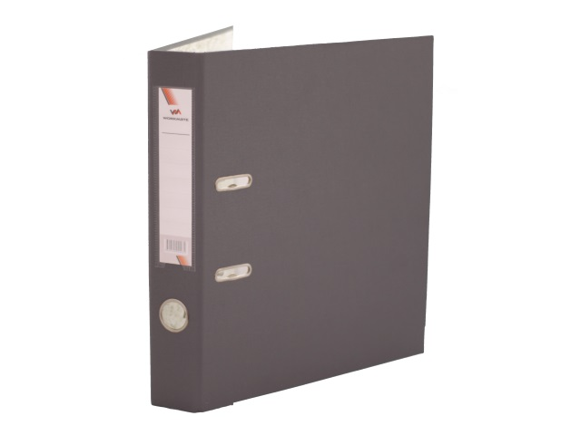 Регистратор  А4/50 WM серый с металлической окантовкой 059000903
