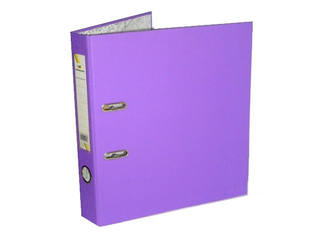 Регистратор  А4/50 WM фиолетовый с металлической окантовкой 059000917\50