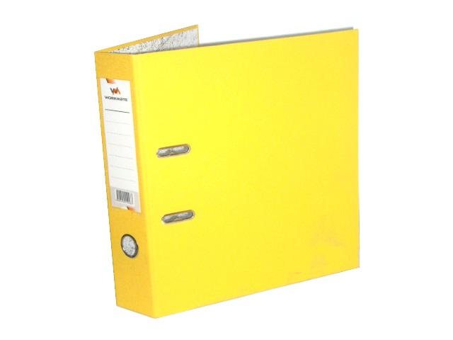 Регистратор  А4/75 WM желтый с металлической окантовкой 059001008