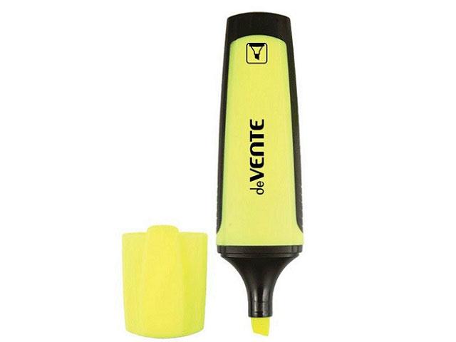 Маркер текстовый DeVente желтый скошенный 1-4мм 5045325