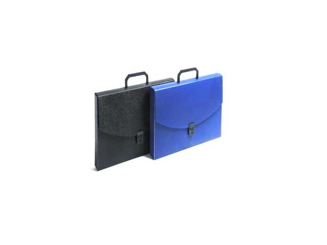 Портфель А4  1 отделение пластик синий на замке WM 060000402