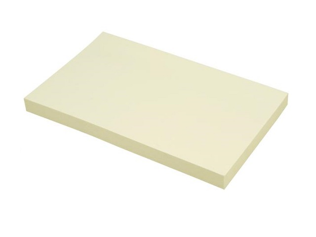 Стикер 75*125мм 100л желтый DeVente 2010321