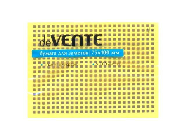 Стикер 75*100мм 100л желтый DeVente 2010317