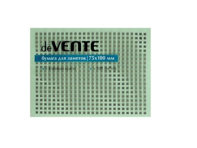 Стикер 75*100мм 100л зеленый DeVente 2010318