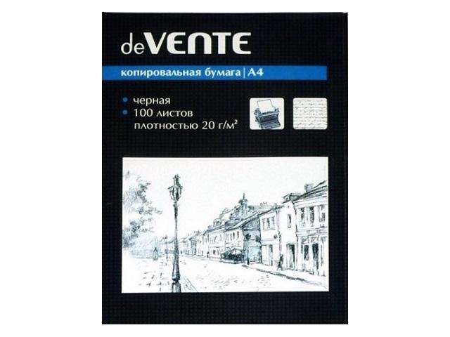 Копировальная бумага А4 100л черная DeVente 2041303