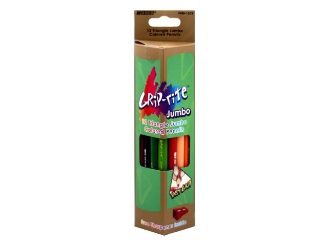 Карандаши цветные 12цв Marco Jumbo трехгранные 9400