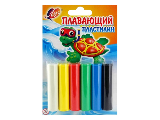 Пластилин  6 цветов  84г плавающий Луч 22С 1430-08