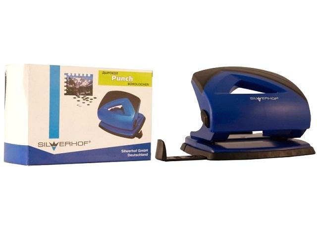 Дырокол на 20 листов пластик синий Shark Silwerhof 391017-23