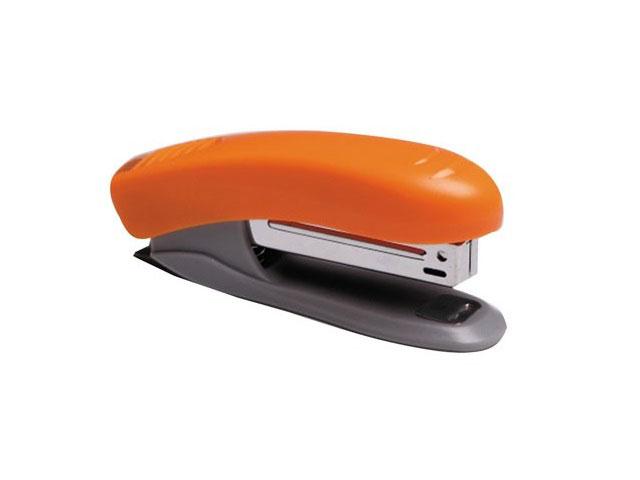 Степлер №10 10л пластик неон оранжевый с антистеплером DeVente 4142344