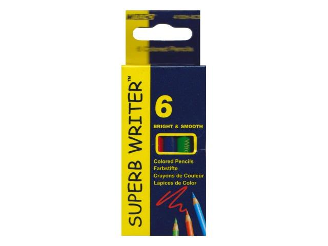 Карандаши цветные  6цв Marco Super Writer шестигранные мини 4100Н