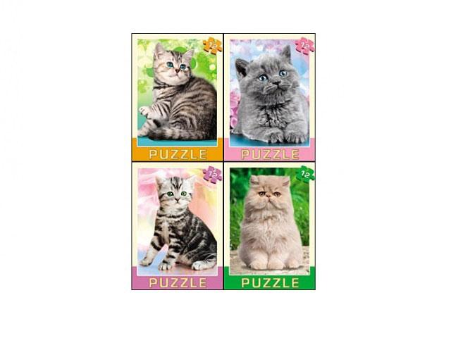 Пазлы   12 деталей Изумительные котята П12-1556
