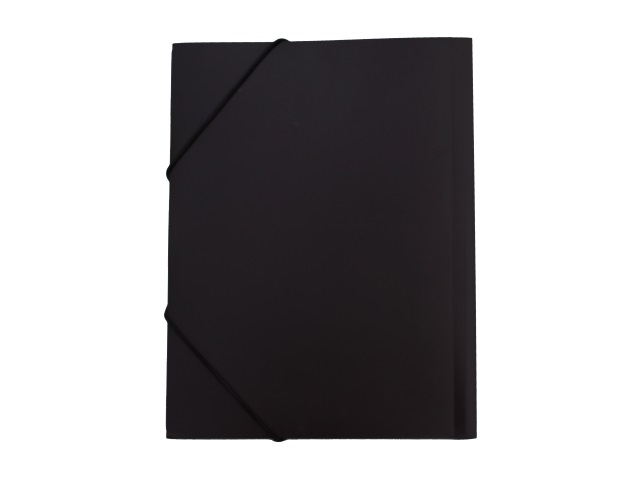 Папка на резинке А4 черная Kanzfile 045-PR-E